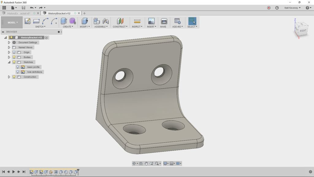 History Editing In Fusion 360 Ace Monster Toys Makerspace